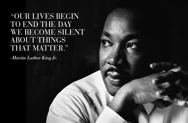 MLK evil silent king