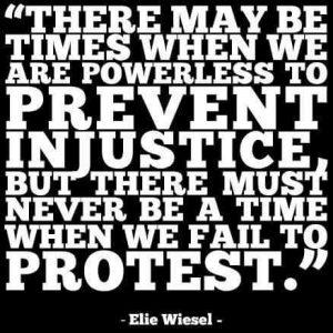 elie wiesel prevent injustice evil
