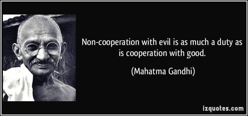 ghandi evil