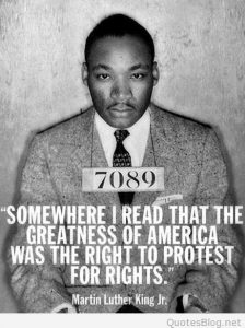 king mlk protest