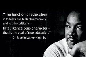 mlk king education