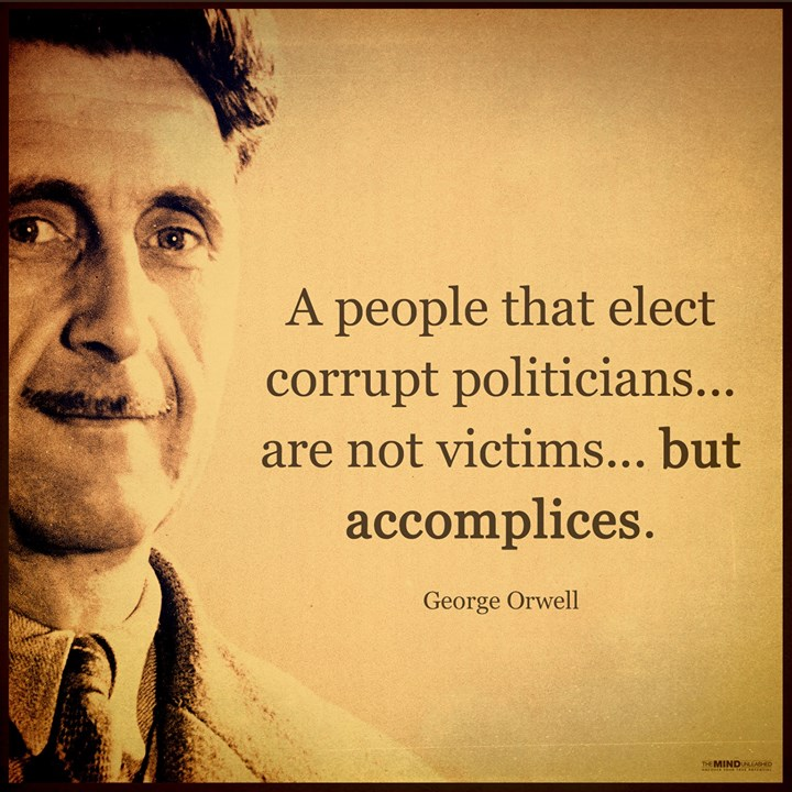 protest victims accomplices george orwell